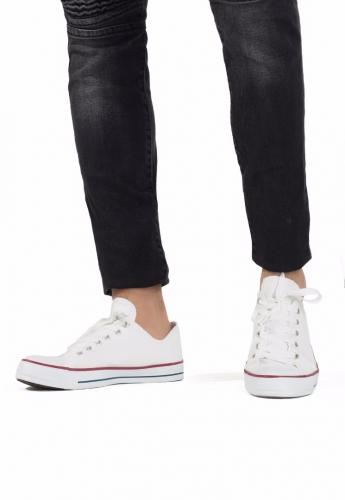 Beyaz Keten Erkek Spor Ayakkabı