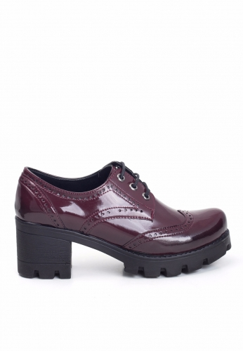 Bordo Rugan Oxford Ayakkabı