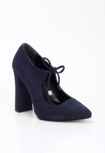 Lacivert Kalın Topuklu Ayakkabı