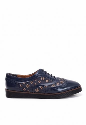 Lacivert Rugan Oxford Ayakkabı