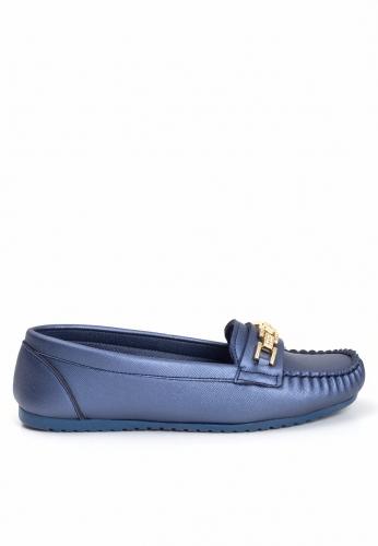 Lacivert Tokalı Ayakkabı