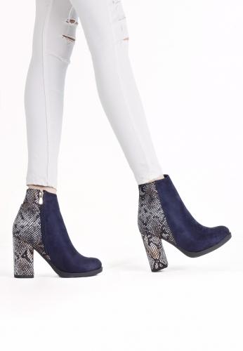 Lacivert Yılan Derisi Ayakkabı