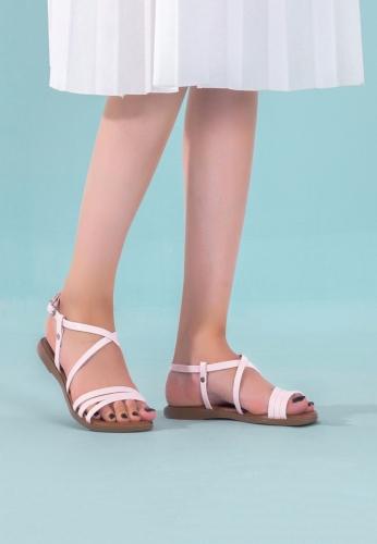 Pudra Bayan Sandalet Ayakkabı
