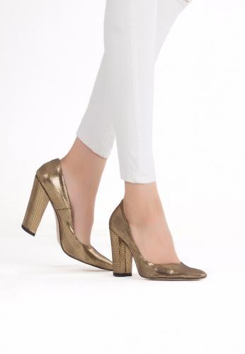 Sarı Topuklu Ayakkabı