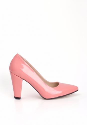 Şeker Pembesi Bayan Kalın Topuklu Ayakkabı