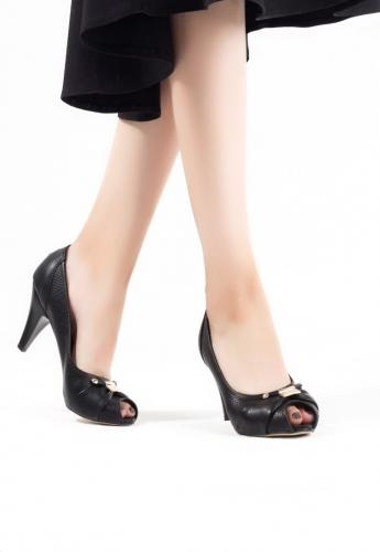 Siyah Bayan Topuklu Ayakkabı