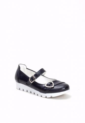 Siyah Kemerli Çocuk Babet Ayakkabı