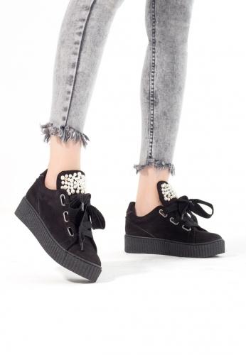 Siyah Süet Sneakers