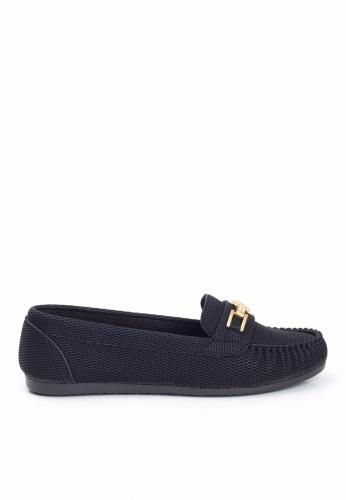Siyah Tokalı Babet Ayakkabı