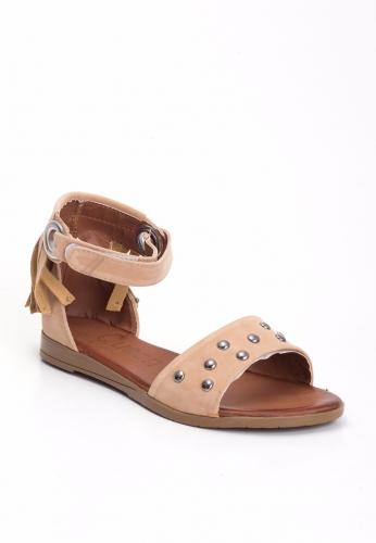 Süet Zımbalı Sandalet