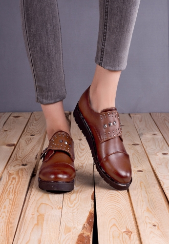 Taba Rengi Oxford Ayakkabı