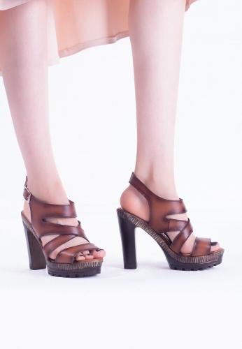 Taba Renk Bayan Platform Topuk Ayakkabı