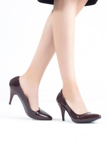 Vişne Çürüğü Rugan Bayan Topuklu Ayakkabı