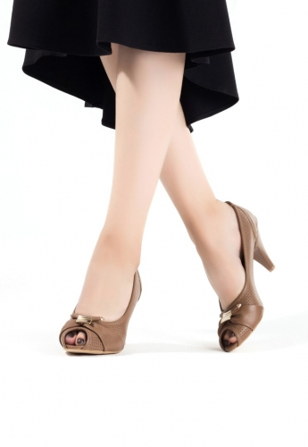 Vizon Bayan Topuklu Ayakkabı