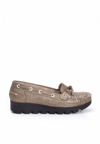 Vizon Desenli Kalın Topuk Bayan Ayakkabı